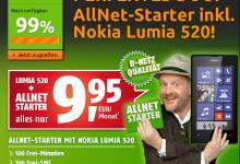Crash Tarife Aktion Nokia 520 mit Allnet Starter von Klarmobil für 9,95 Euro im Monat