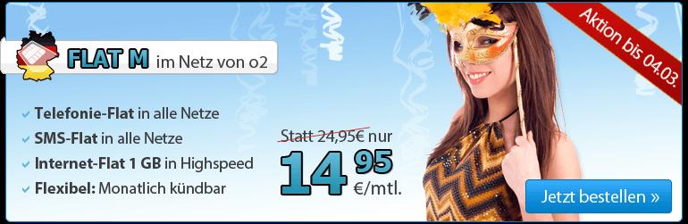 DeutschlandSIM Full-Flat unter 15 Euro