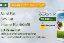 BASE all in mit eu reise flat für 29,70 Euro mit Galaxy S4 bei Eteleon