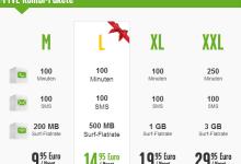 fyve neue Smartphone Zusatzoptionen für Prepaid Tarif buchbar