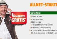 Allnet Starter Tarif bei Klarmobil im Vodafone Netz 4 Monate gratis
