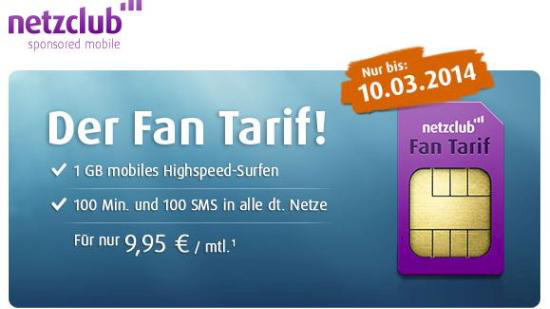 Netzclub Fan Tarif
