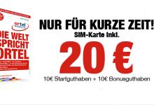 Ortel Mobile Prepaid-SIM Karte mit 20 Euro Startguthaben