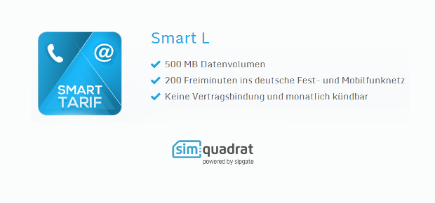 simquadrat Tarif-Option Smart L