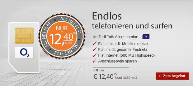 Talkline Allnet Flat nur 12,40 Euro