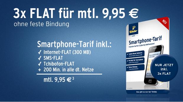 Tchibo Mobil mit 3 Fach Flatrate für nur 9,95 Euro im Monat