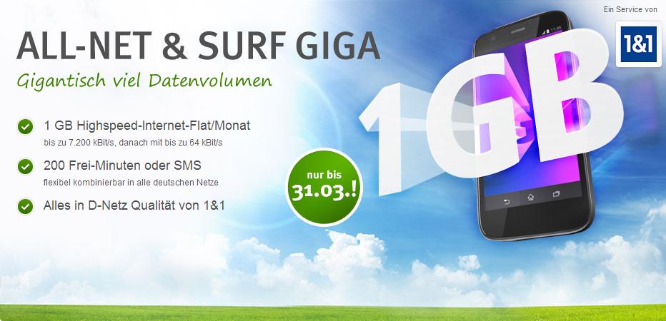 1&1 All-Net Surf GIGA
