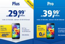 Samsung Galaxy S5 bei 1 und 1 mit einer Allnet-Flat