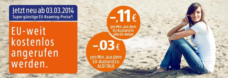Aldi Talk roaming in EU kostenlos