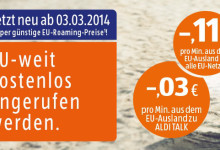 Aldi Talk EU Weit kostenlos angerufen werden