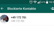 Liste der Blockierten Kontakte