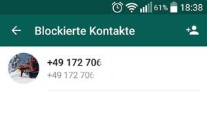 Blockierte Kontakte