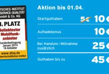 Aktion 45 Guthaben bei 9 Cent von Blau.de