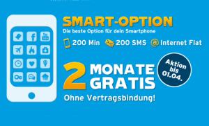 Smart-Option erste 2 Monate Gratis bei Blaude