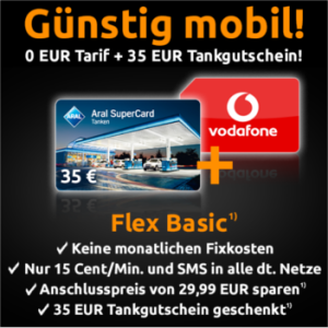 Crash-Tarife Vodafone Flex Basic