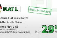 DeutschlandSIM Flat L mit 2 GB Internet-Flatrate