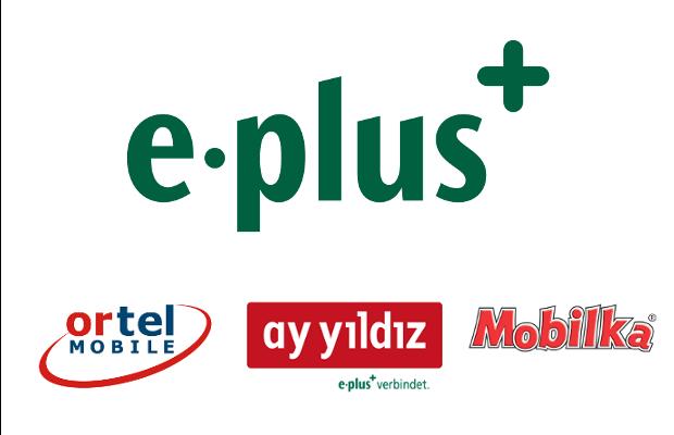 E-PLUS Gruppe mit Mobilfunkanbietern Ortel Mobile ay yildiz und Mobilka