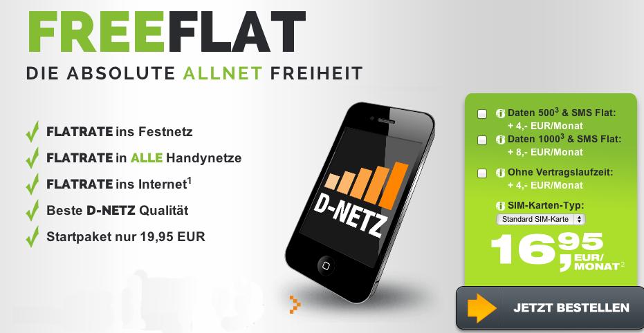 Allnet-Flatrate im Telekom Netz von Freenet-Mobile
