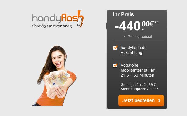 Internet-Flatrate 3GB LTE im Vodafone Netz nur 7,90 Euro im Monat