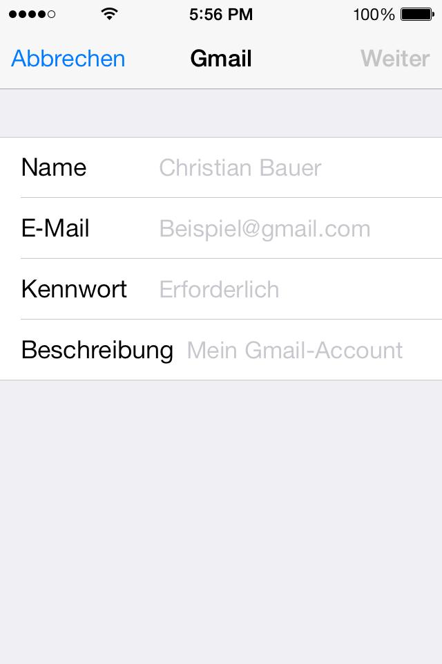 Account Daten