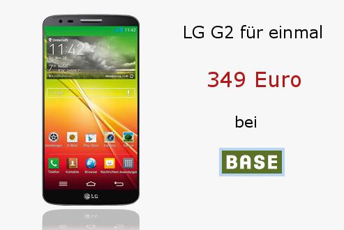 LG G2 bei BASE in Farbe black für nur 349 Euro