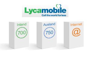 Auslandspakete bei Lycamobile