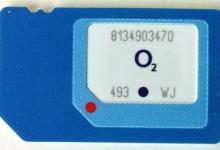 3 Sim-Karten in einer SIM