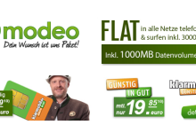 Allnet Flat von Klarmobil bei Modeo mit 500 MB Internet Flat gratis