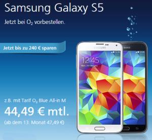 Samsung Galaxy S5 bei o2