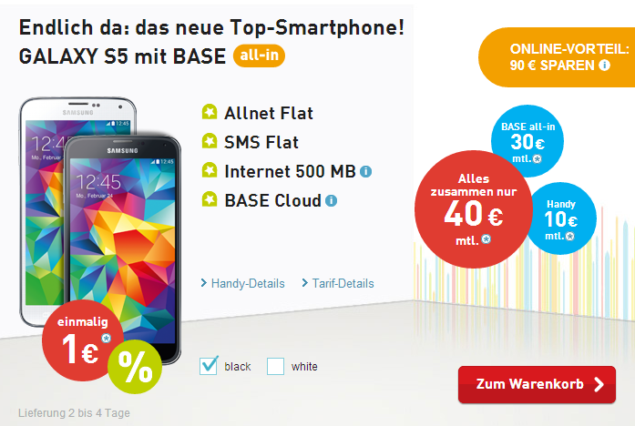 Base All-In mit Samsung Galaxy S5