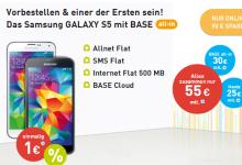 All-In von Base mit Samsung Galaxy S5 für 55 Euro