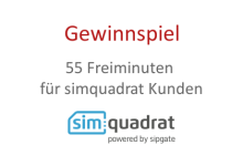 Gutscheincode mit 55 Frei-Minuten für simquadrat Kunden