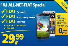 Allnet Flatrate von 1 und 1 mit Gratis Smartphone