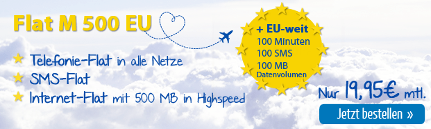 Eteleon Allnet-Flat mit 100 Freieinheiten für Europäische Union