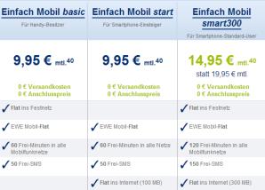 Überarbeitete Tarife der EWE TEL GmbH