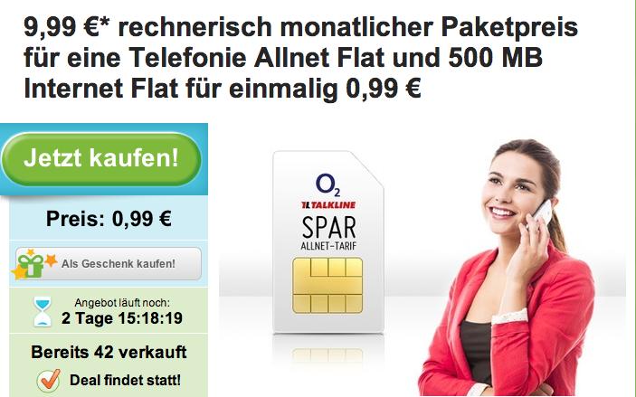Allnet-Flat bei Groupon für 9,99 Euro