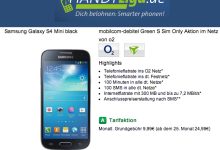 Samsung Galaxy S4 Mini mit o2 und Festnetz-Flat für 9,90 Euro im Montat