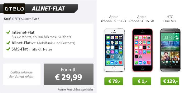 Otelo Allnet-Flat M mit iPhone 5s