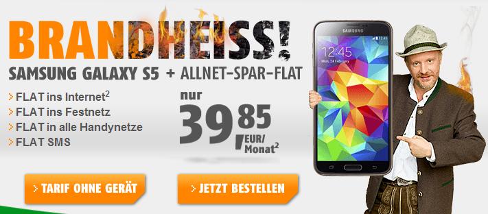 Klarmobil Angebot für Samsung Galaxy S5