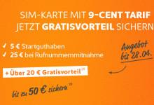 Simyo Aktion bis 28.04 – 50 Euro sichern