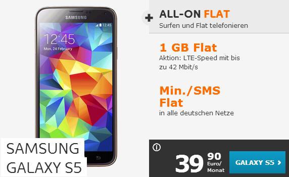 Simyo Angebot für Samsung Galaxy S5