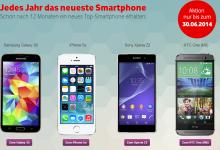 Vodafone Nextphone mit einem Smartphone