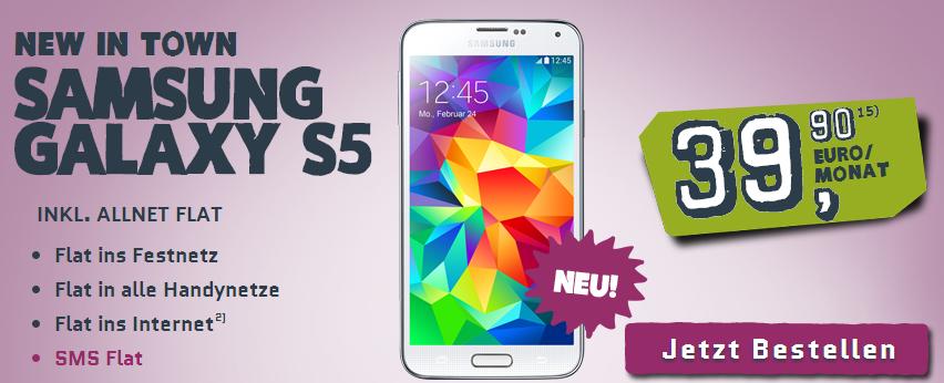 Samsung Galaxy S5 bei yourfone mit Allnet-Flat