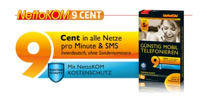 9 Cent Tarif von NettoKom