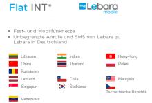 Allnet Flat für Ausland von Lebara Mobile