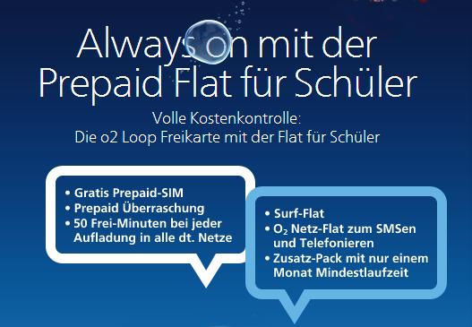 Prepaid-Flat für Schüler von o2