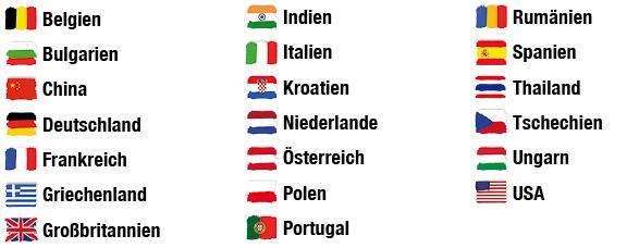 Länder, wo Freiminuten im Tarif Smart 180 gelten