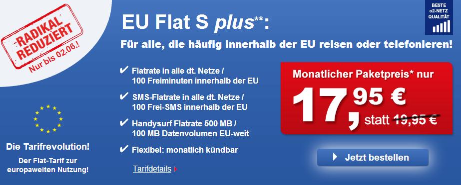 EU Flat S bei Phonex 2 Euro günstiger