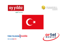 ay yildiz, Ortel Mobil, Turkcell, Türk Telekom