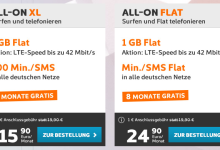 Simyo All-On Tarife bis zu 8 Monate gratis